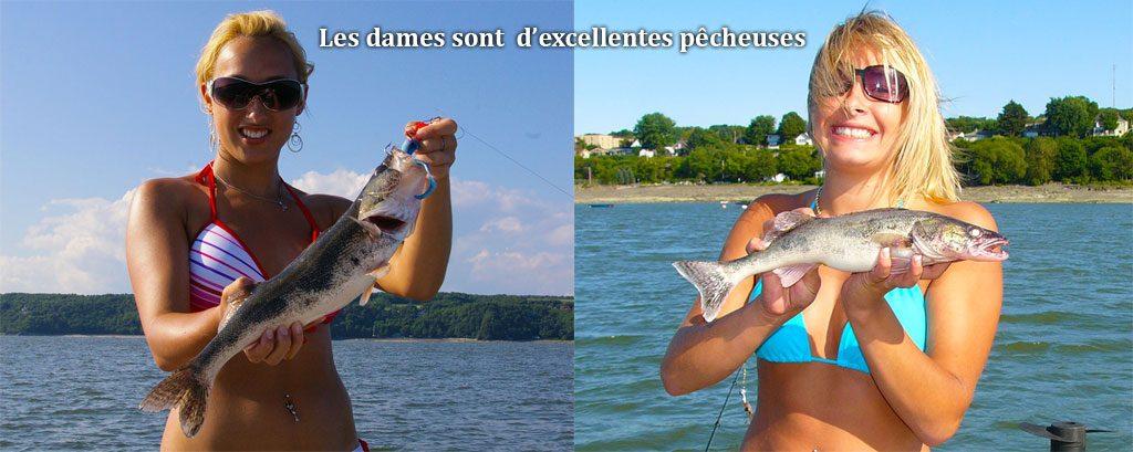 Les dames sont d'excellentes pêcheuse